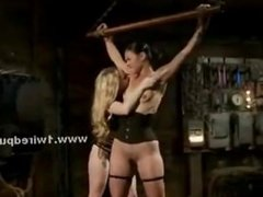 Lesbian club used by mistress to fuck