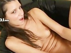 ultra sexy brunette with big vibrator