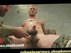 Officer BDSM Humiliates a Bound Soldier