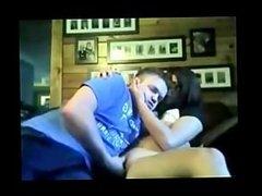 brunette chick gets fucked on webcam