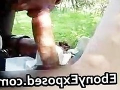 Ebony amateur outdoor intense sloppy part6