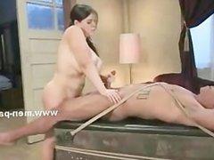 Huge boobs slut sitting on face of man