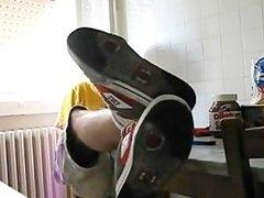 Skater Shoes, Socks And Feet