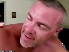 Gay masseur assfucked and facialized by straight client