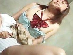 Submissive bukkake - very hot!