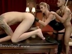 Dominatrix Felony served by two slaves