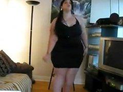 BBW Thick Babe Stripping
