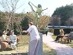 Free jav of Crazy Japanese bronze statue part6