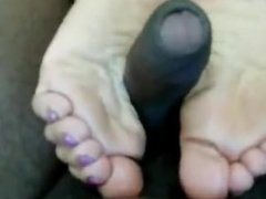 London Aza Indian desi woman Footjob