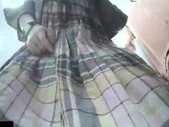 Hidden camera upskirt panties