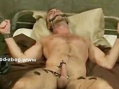Athletic gay hunk with strong muscles and firm delicious body spa