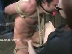 Extremly horny mistress with big tits spanking man and torturing