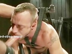 Sexy patient abused by kinky doctor gets tied in leather and span