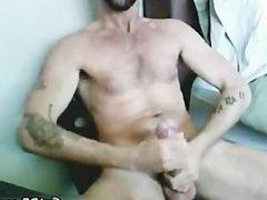 Tattooed Hairy Hunk Masturbating part4