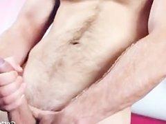 Great looking guy jerking his hard dick part1