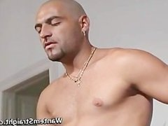 Hot straight guys in gay porno action part4