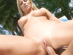 Loveable Lexi Swallow Gets Flange Fucked In The Warm Suns