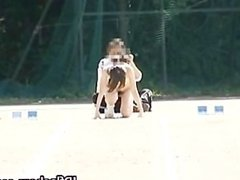 Free jav of Asian girls run a nude track part2