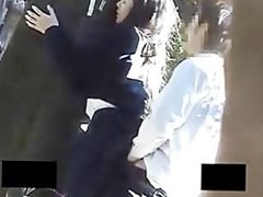 Two couples fucking in public park