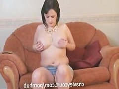 Big titted chav gets down and dirty with her mobile phone!
