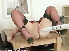 Watch mature slut in stockings