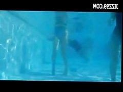 cute teen wear dissolve swimsuit in swimming pool 02