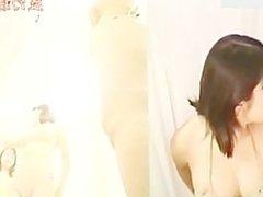 Ladies fitting room lights on spycam