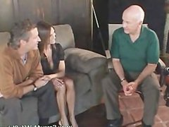 Busty and beautiful wife screwed on a billiard table and got thro
