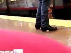 Dude getting fucked in metro part1