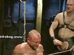 Arena of sins hold gay bdsm party with pair of pervert masters gi