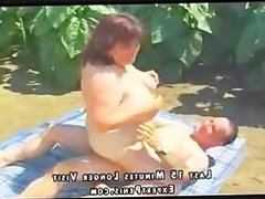 White BBW fucked outside