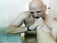 Sexy femdom getting her pussy and feet licked