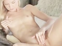 tight blonde with two vibrators