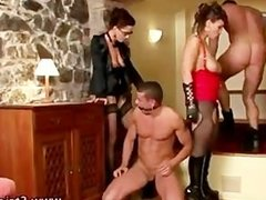 Nasty femdom sluts face sit and fucking