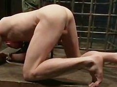 Bound guy gets his anus licked gay BDSM part2