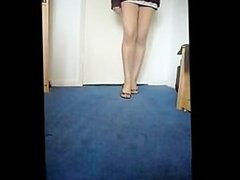 Pakistani girl walking in sexy heels showing hot legs
