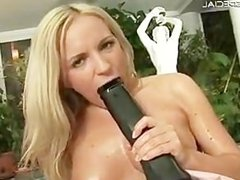 Blond slutty babe working on a huge part3