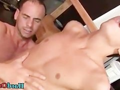 Horny guy sucking some really fat gay part2