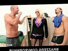 Sexy slutty blonde MILF Holly Price rides big hard dick to orgasm