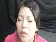 Asian gets massive facial