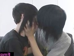 Gay emo twinks making out on a sofa part2