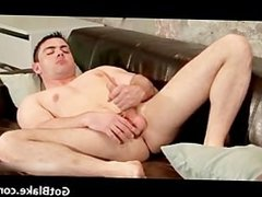 Cute Riley wanking his firm cock part2