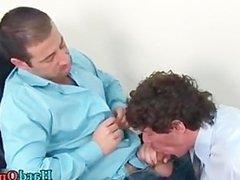Gay bear gets his hard cock sucked part3