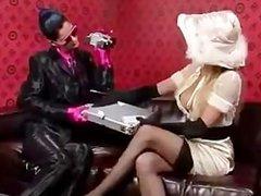 Classy spy girl lesbians kissing