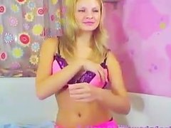 Shy Teen Dildos Her Ass On Webcam