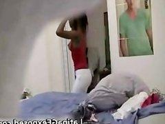 Amateur teen latin caught by hidden cam part2