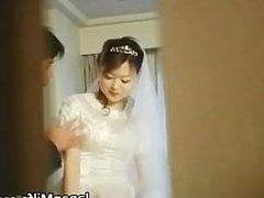 Real asian bride getting hard core group making out part4