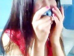 asian brunette masturbating with a dildo(4).flv