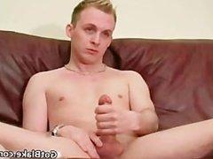 Cute Aaron jerking his massive boner part2