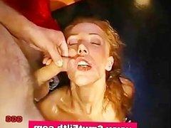 Bukkake fetish slut fuck and cum shower